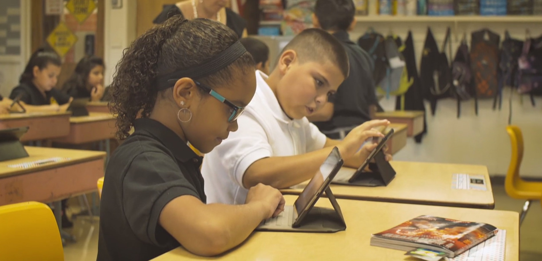 iPads being used in Guardian Angels Classroom