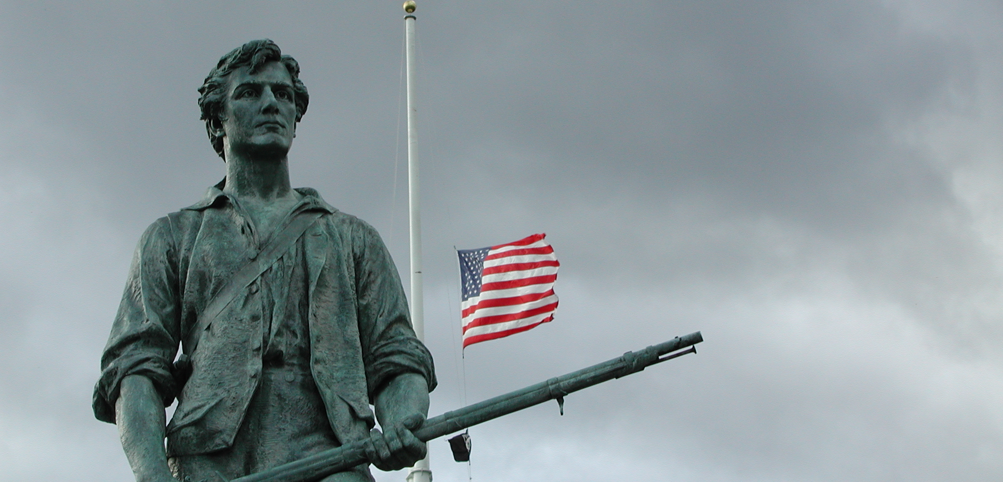 Minuteman with flag